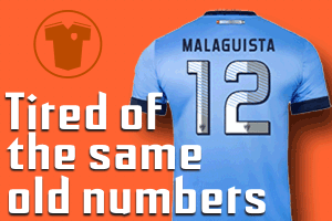 Soccer Uniforms number systems