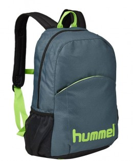 Hummel-Authentic-Backpack-Grey-Neon-Green
