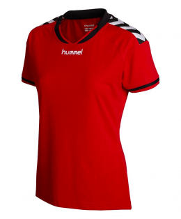 womens-red soccer jersey