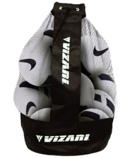 12 Nike Pitch Balls & Vizari Ball Bag